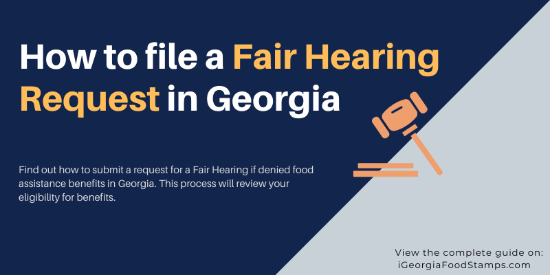 How to file a Fair Hearing Request in Georgia