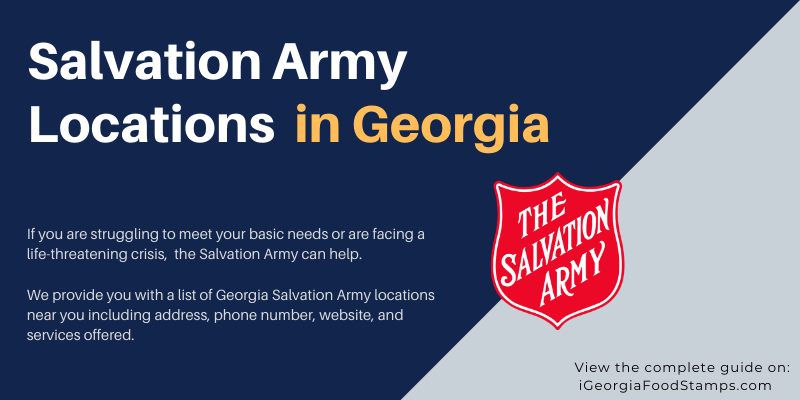 Salvation Army locations in Georgia