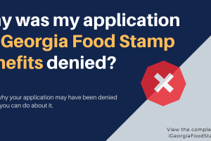 Why was my application for Georgia food stamps denied?
