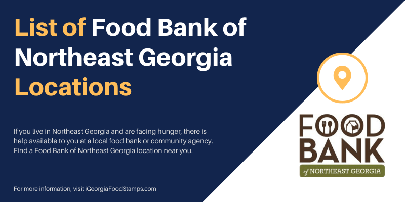 List of Food Bank of Northeast Georgia Locations