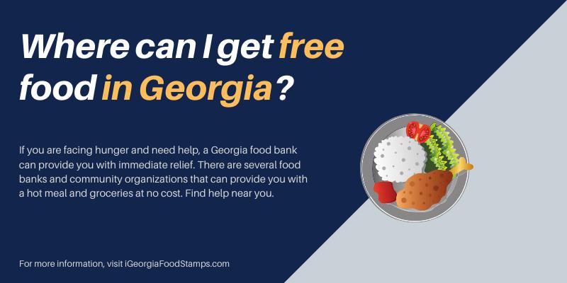 Where can I get free food in Georgia?