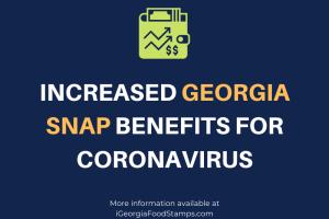 Increased Georgia SNAP benefits for coronavirus