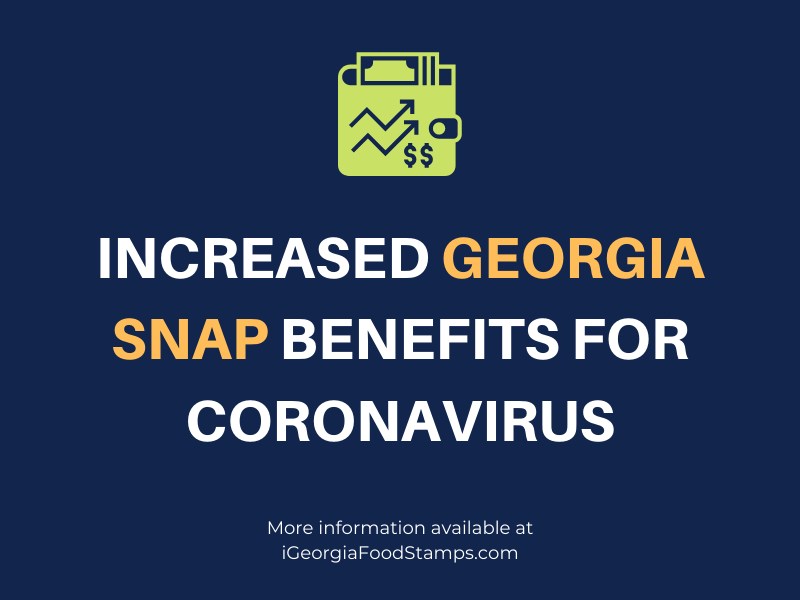 Increased Georgia SNAP benefits for coronavirus