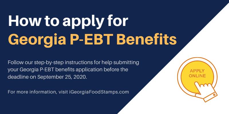 How to Apply for Georgia P-EBT Benefits