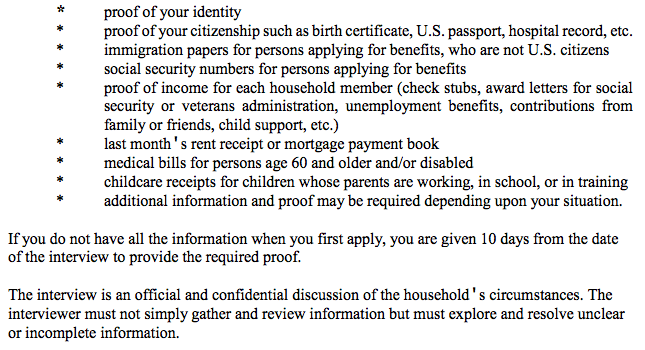 """""""Georgia food stamps documents application"""""""