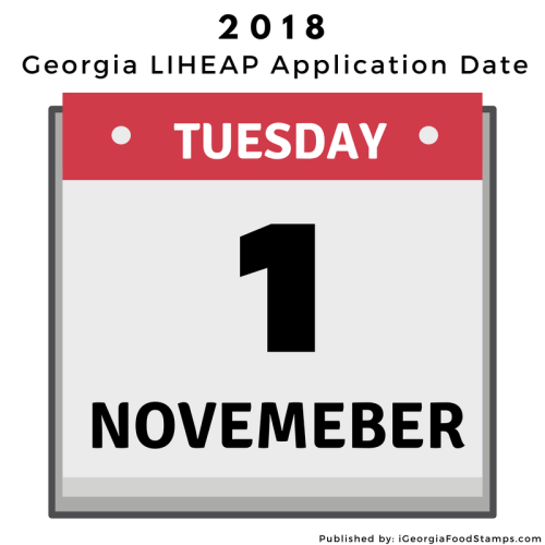 Georgia LIHEAP Application Date 2018