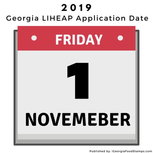 Georgia LIHEAP Winter Application Date 2019