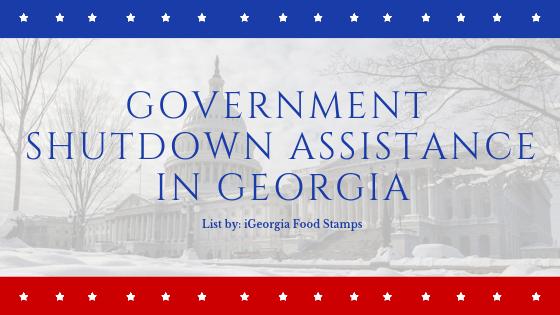 Government shutdown assistance in georgia