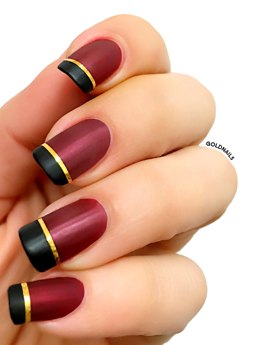 Bordeaux Matt Nails