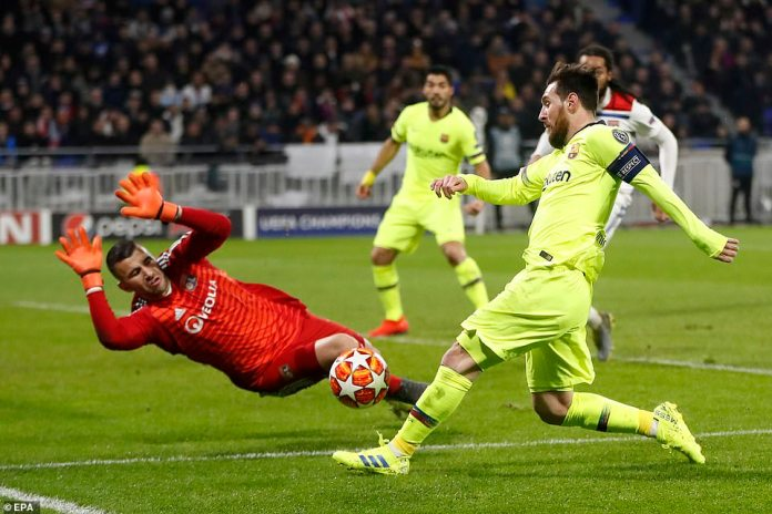 Anthony Lopez urindira Lyon yagoye cyane FC Barcelone ya Messi