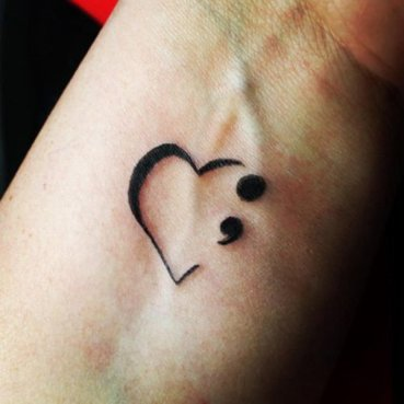 Semicolon tattoos - What they mean and why they're trending-1-igirlythingx