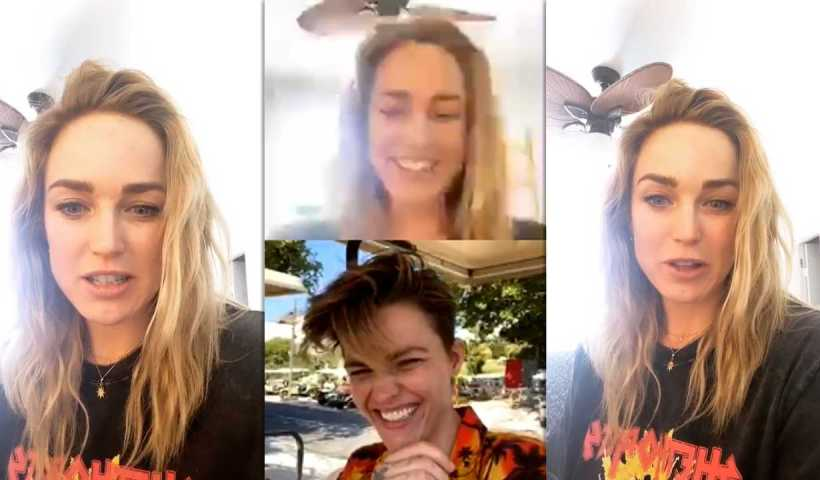 Caity Lotz's Instagram Live Stream with Ruby Rose from March 18th 2020.