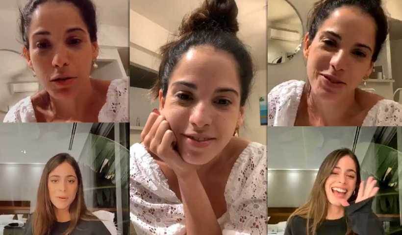 "Candelaria Molfese's Instagram Live Stream with Martina ""TINI"" Stoessel from March 21th 2020."