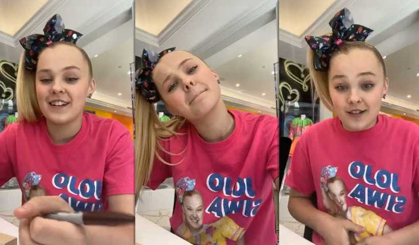 Jojo Siwa's Instagram Live Stream from March 18th 2020.