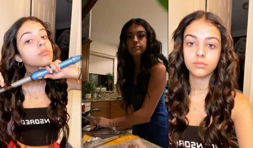 Malu Trevejo's Instagram Live Stream from March 23th 2020.