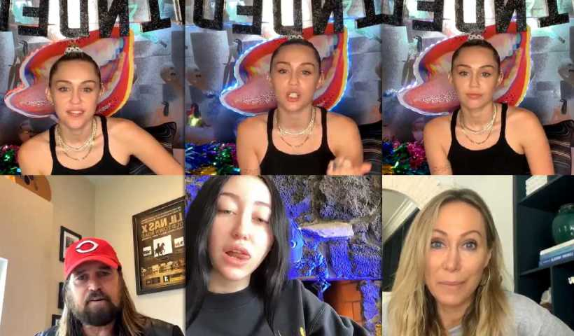 Miley Cyrus #BrightMinded Instagram Live Stream from March 24th 2020.