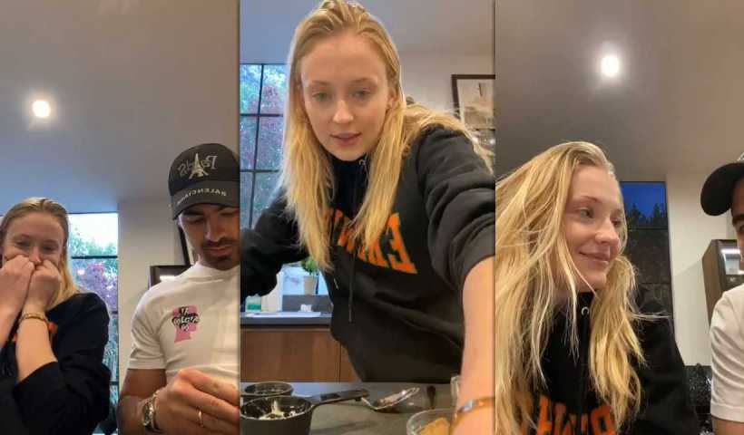 Sophie Turner's Instagram Live Stream with Joe Jonas from March 29th 2020.