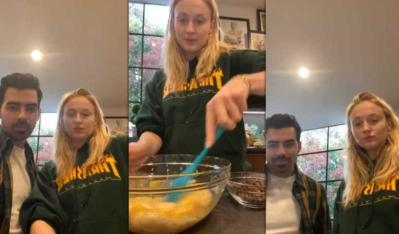 Sophie Turner's Instagram Live Stream with Joe Jonas from March 31th 2020.