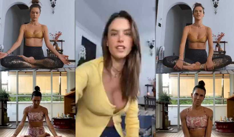 Alessandra Ambrosio's Instagram Live Stream from April 2nd 2020.