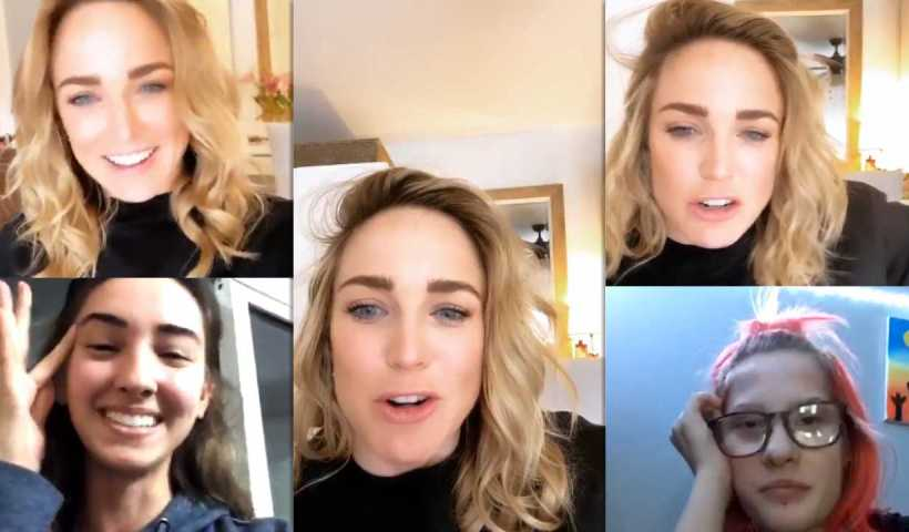 Caity Lotz's Instagram Live Stream from April 10th 2020.