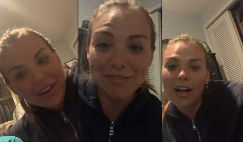 Hannah Brown's Instagram Live Stream from March 31th 2020.