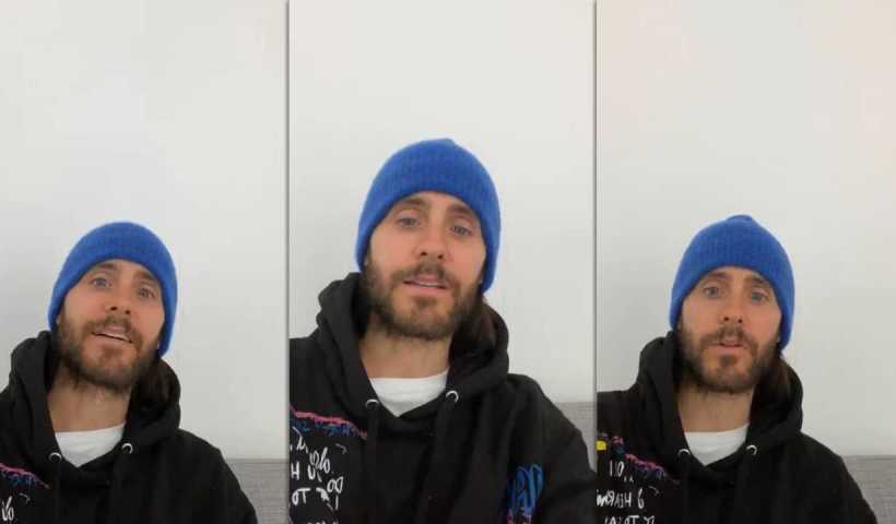 Jared Leto's Instagram Live Stream from April 2nd 2020.