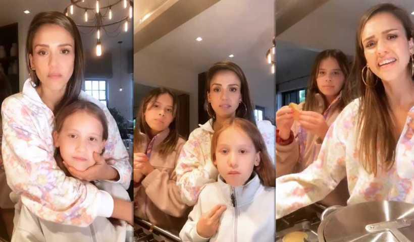 Jessica Alba's Instagram Live Stream from April 12th 2020.