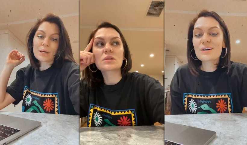 Jessie J's Instagram Live Stream from April 18th 2020.