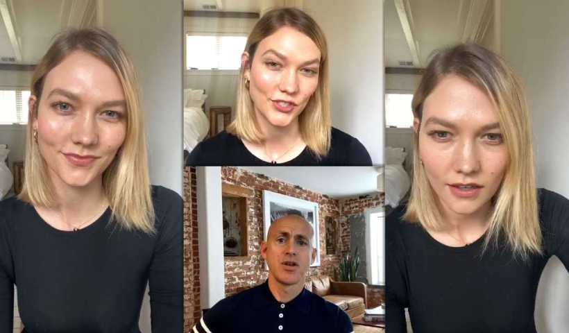 Karlie Kloss Instagram Live Stream from April 14th 2020.
