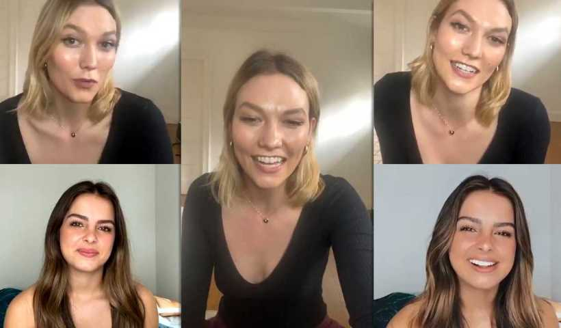Karlie Kloss Instagram Live Stream with Addison Rae from April 8th 2020.