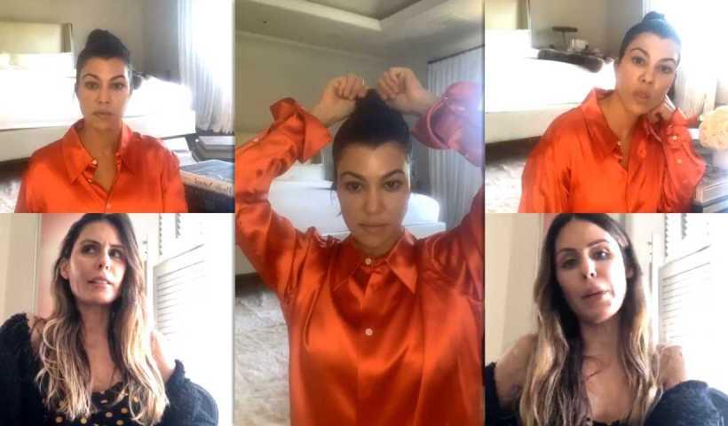 Kourtney Kardashian's Instagram Live Stream from April 15th 2020.