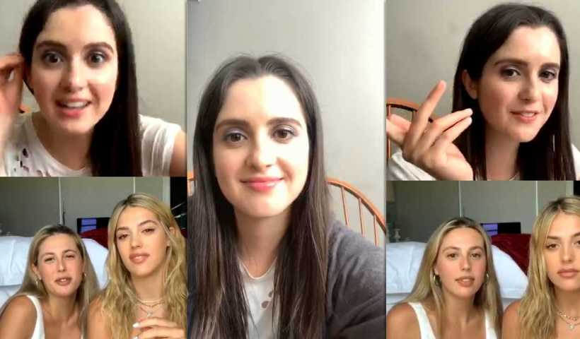 Laura Marano's Instagram Live Stream from April 24th 2020.
