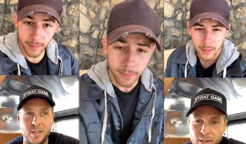 Nick Jonas' Instagram Live Stream from April 13th 2020.