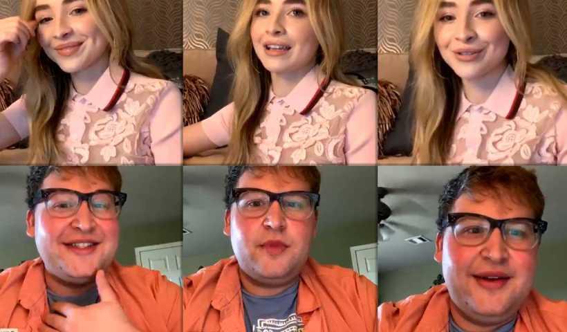 Sabrina Carpenter's Instagram Live Stream from April 8th 2020.