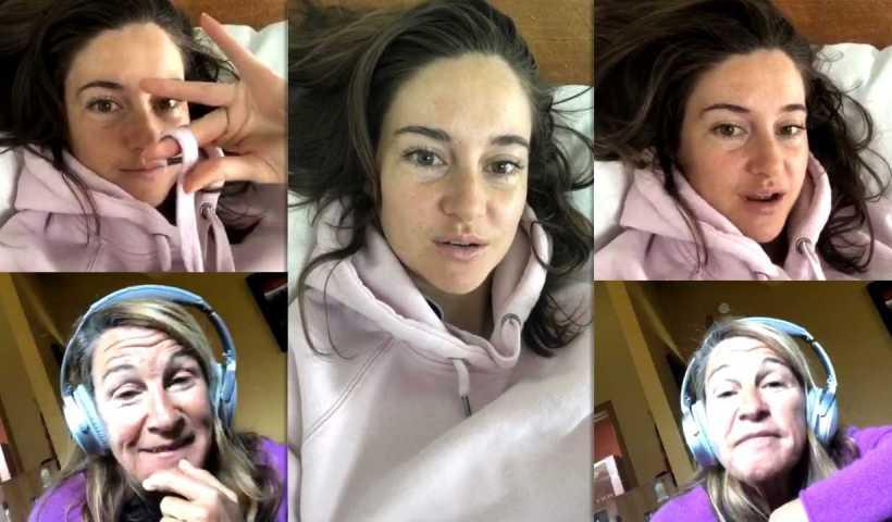 Shailene Woodley's Instagram Live Stream from April 23th 2020.
