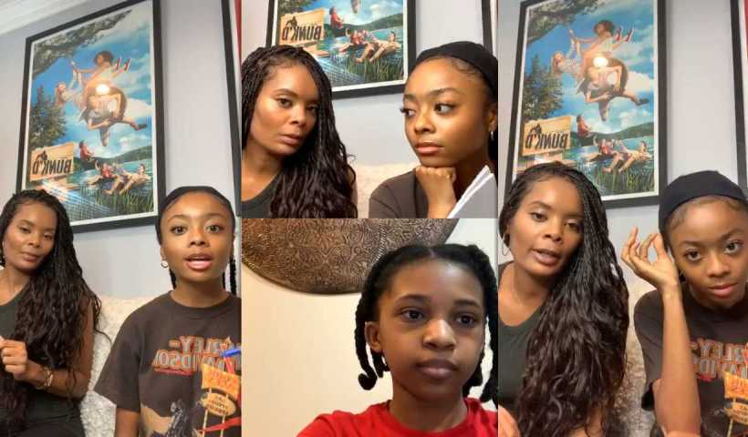 Skai Jackson's Instagram Live Stream from April 15th 2020.