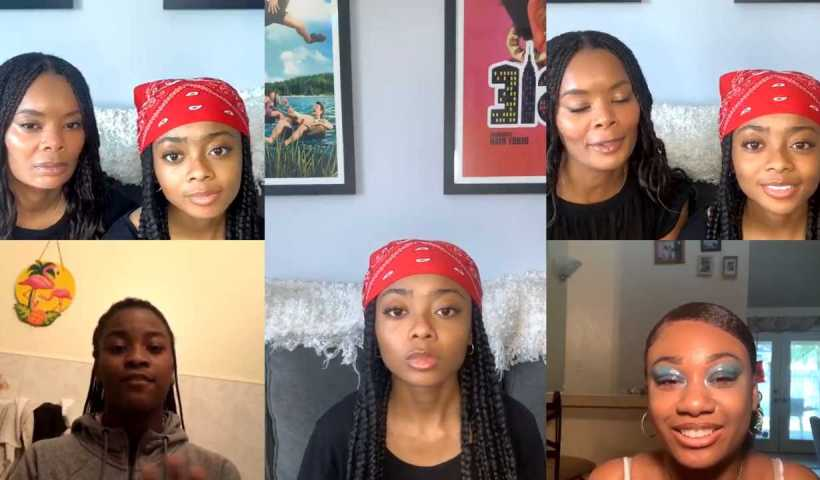 Skai Jackson's Instagram Live Stream from April 21th 2020.