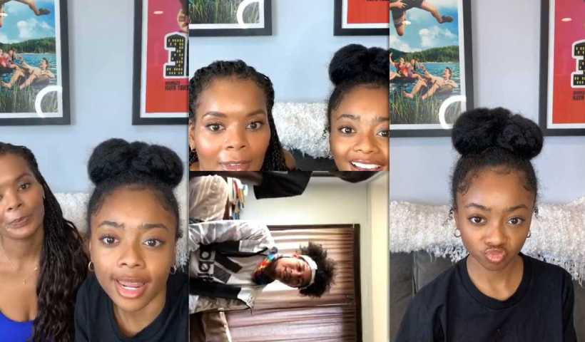 Skai Jackson's Instagram Live Stream from April 28th 2020.