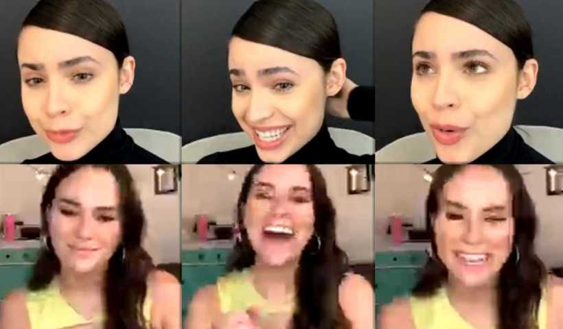 Sofia Carson's Instagram Live Stream from April 16th 2020.