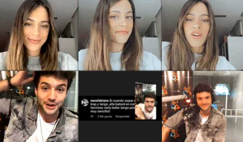 """Martina """"TINI"""" Stoessel's Instagram Live Stream from April 17th 2020."""