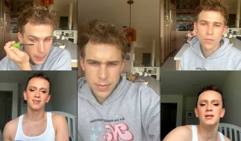 Tommy Dorfman's Instagram Live Stream from April 13th 2020.