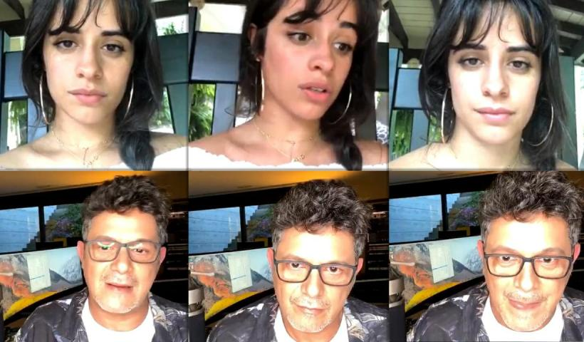 Camila Cabello's Instagram Live Stream from May 21th 2020.