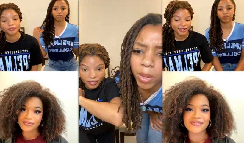 Chloe x Halle's Instagram Live Stream from May 15th 2020.