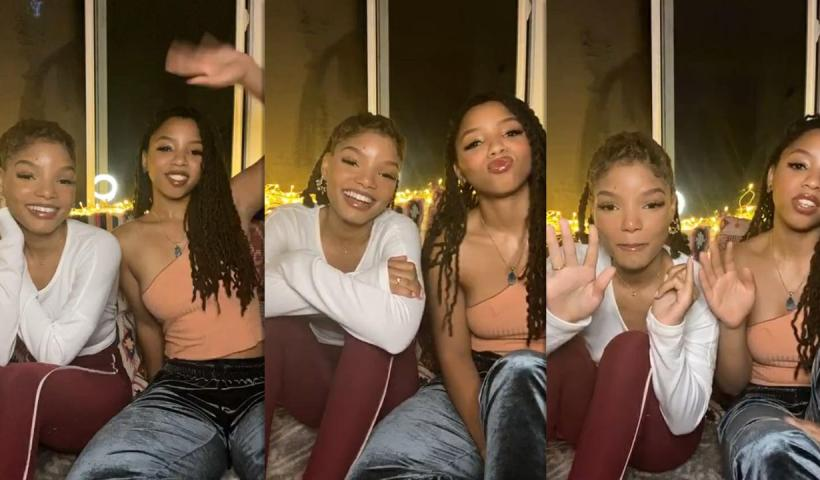 Chloe x Halle's Instagram Live Stream from May 7th 2020.