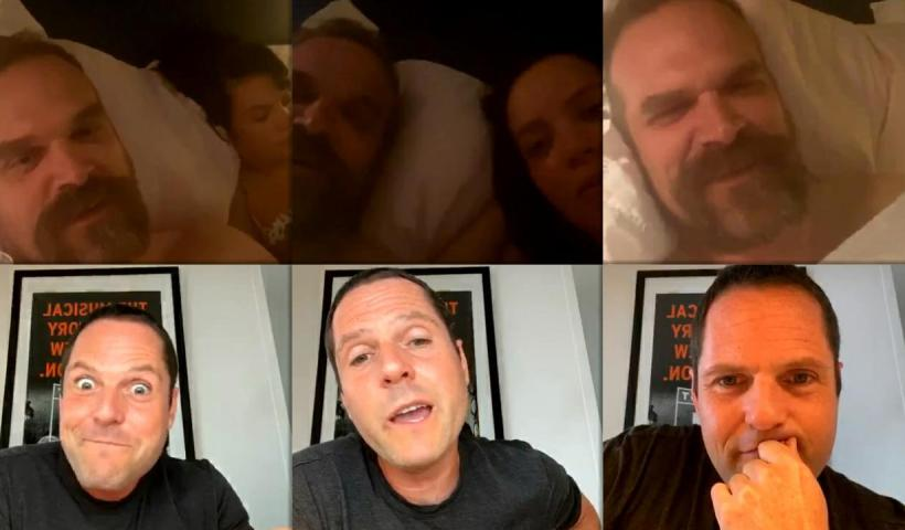 David Harbour's Instagram Live Stream with Lily Allen from May 22th 2020.