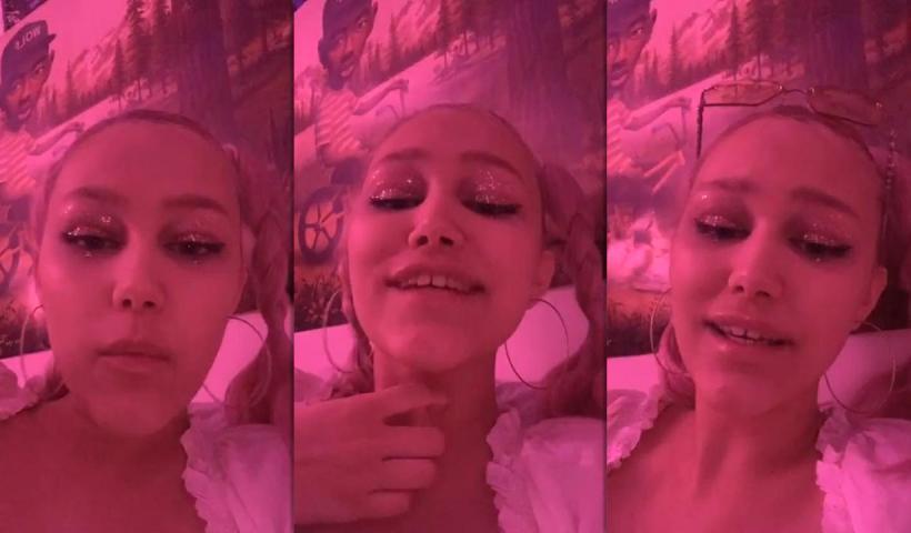 Grace VanderWaal's Instagram Live Stream from May 6th 2020.
