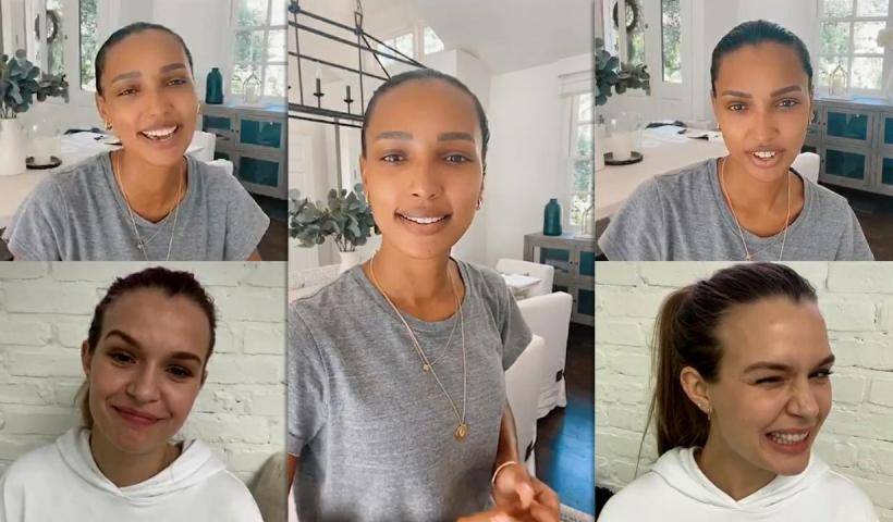 Jasmine Tookes's Instagram Live Stream with Josephine Skriver from May 13th 2020.