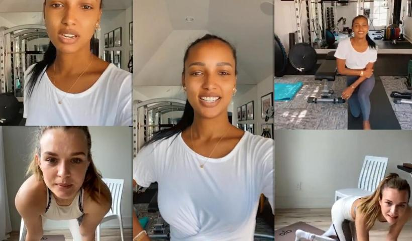 Jasmine Tookes's Instagram Live Stream with Josephine Skriver from May 22th 2020.