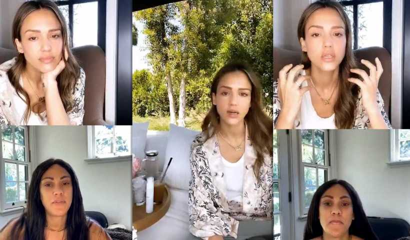 Jessica Alba's Instagram Live Stream from May 2nd 2020.