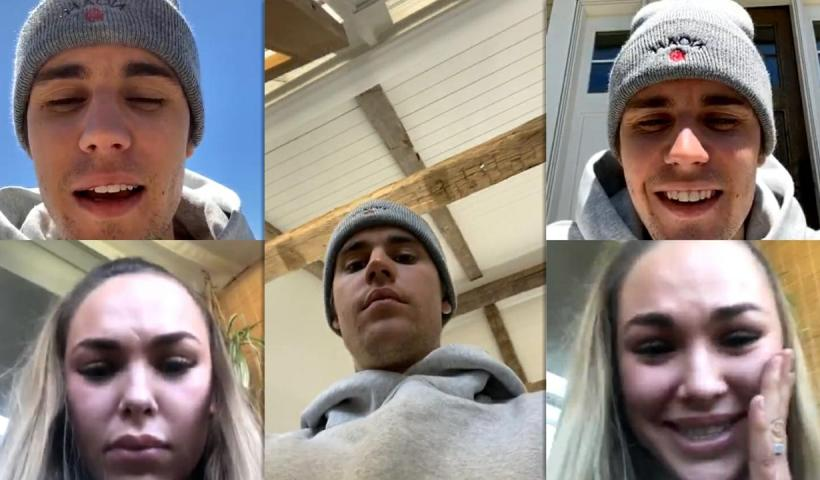 Justin Bieber's Instagram Live Stream from May 20th 2020.